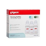 PIGEON Triple Pack KP PP 120ml With S-Type Silicone Nipple [PR010305] - Botol Susu